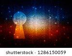 2d illustration technology... | Shutterstock . vector #1286150059