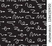 curve arrows seamless pattern.... | Shutterstock .eps vector #1286150920