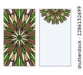 ethnic mandala ornament....   Shutterstock .eps vector #1286152699