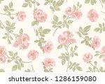 dog rose seamless pattern.... | Shutterstock .eps vector #1286159080