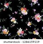 flower seamless pattern for... | Shutterstock .eps vector #1286159119