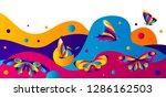 banner design with butterflies. ...   Shutterstock .eps vector #1286162503