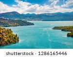 perfect summer view of... | Shutterstock . vector #1286165446