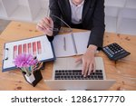 business documents on office...   Shutterstock . vector #1286177770