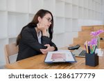 business documents on office...   Shutterstock . vector #1286177779