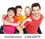 photo of the happy young family ... | Shutterstock . vector #128618078