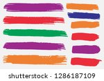 collection of hand drawn... | Shutterstock .eps vector #1286187109