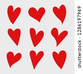 vector set of red isolated...   Shutterstock .eps vector #1286197969