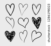 vector set of doodle hand drawn ... | Shutterstock .eps vector #1286198023
