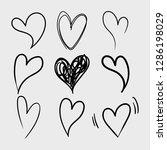 vector set of doodle hand drawn ...   Shutterstock .eps vector #1286198029