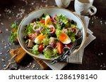 Healthy Organic Lettuce Salad...
