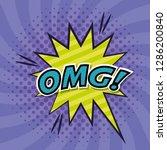 explosive with omg word comic...   Shutterstock .eps vector #1286200840