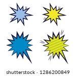 set of explosive comic pop art... | Shutterstock .eps vector #1286200849