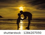 father's day. silhouette of... | Shutterstock . vector #1286207050
