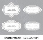 calligraphic floral frame. page ... | Shutterstock .eps vector #128620784