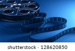 film reel with filmstrip | Shutterstock . vector #128620850