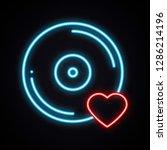 realistic bright neon vinyl... | Shutterstock .eps vector #1286214196