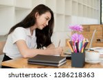 business documents on office...   Shutterstock . vector #1286218363