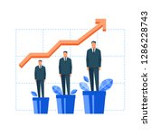 man growing in flowerpot. flat... | Shutterstock .eps vector #1286228743