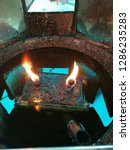 oil fire lamp | Shutterstock . vector #1286235283