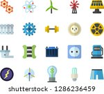 color flat icon set sockets... | Shutterstock .eps vector #1286236459