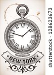 pocket clock | Shutterstock .eps vector #128623673