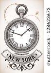 Stock vector pocket clock 128623673