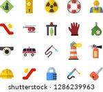 color flat icon set builder... | Shutterstock .eps vector #1286239963