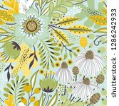 floral seamless pattern on... | Shutterstock .eps vector #1286242933