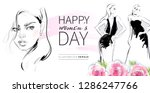 happy women's day greeting card ... | Shutterstock .eps vector #1286247766