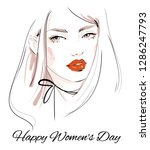 happy women's day greeting card ... | Shutterstock .eps vector #1286247793