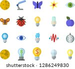 color flat icon set energy... | Shutterstock .eps vector #1286249830