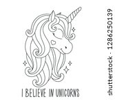oloring pages. unicorn drawing.... | Shutterstock .eps vector #1286250139