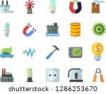 color flat icon set hammer flat ... | Shutterstock .eps vector #1286253670