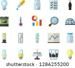 color flat icon set energy... | Shutterstock .eps vector #1286255200