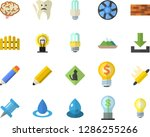 color flat icon set brick wall... | Shutterstock .eps vector #1286255266