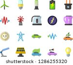 color flat icon set energy... | Shutterstock .eps vector #1286255320