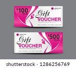 pink gift voucher template ... | Shutterstock .eps vector #1286256769