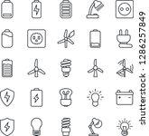thin line icon set   bulb... | Shutterstock .eps vector #1286257849