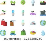 color flat icon set energy... | Shutterstock .eps vector #1286258260
