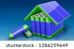 solar power system  3d... | Shutterstock . vector #1286259649