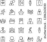 thin line icon set   passport... | Shutterstock .eps vector #1286263030