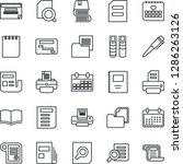 thin line icon set   book... | Shutterstock .eps vector #1286263126