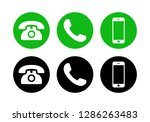 phone icon vector. call icon... | Shutterstock .eps vector #1286263483