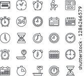 thin line icon set   24 around...   Shutterstock .eps vector #1286266579