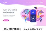 engineers with battery charging ... | Shutterstock .eps vector #1286267899