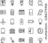 thin line icon set   bulb... | Shutterstock .eps vector #1286274406