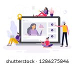 people take an online course ... | Shutterstock .eps vector #1286275846