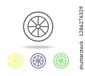 motorcycle wheel colored icons. ... | Shutterstock . vector #1286276329