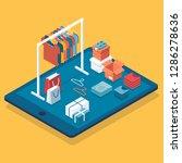 flat design isometric online... | Shutterstock .eps vector #1286278636